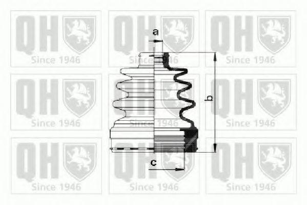 Комплект пылника, приводной вал QUINTON HAZELL QJB984