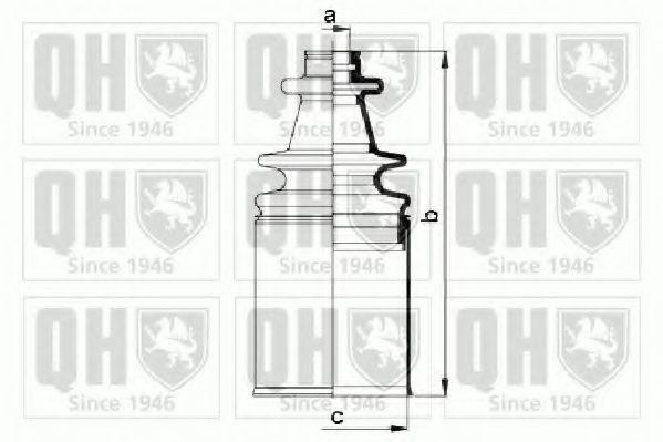 Комплект пылника, приводной вал QUINTON HAZELL QJB997