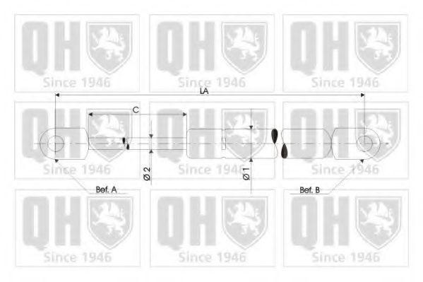 Амортизатор багажника QUINTON HAZELL QTS128612