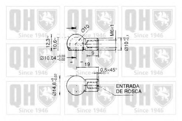 Газовая пружина, крышка багажник QUINTON HAZELL QTS128381