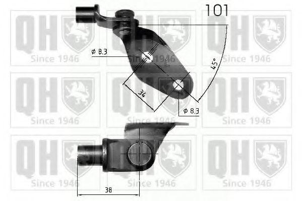 Газовая пружина, крышка багажник QUINTON HAZELL QTS840234