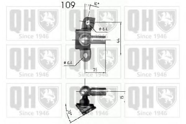 Газовая пружина, крышка багажник QUINTON HAZELL QTS840241