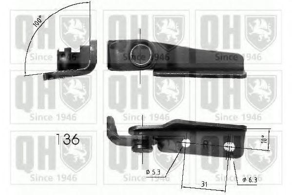 Газовая пружина, крышка багажник QUINTON HAZELL QTS840263