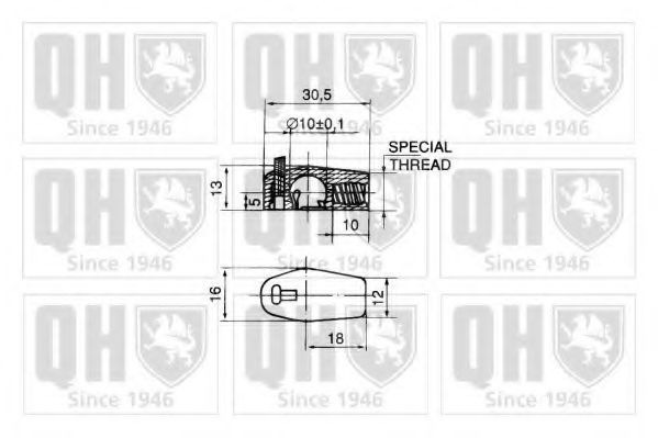 Газовая пружина, крышка багажник QUINTON HAZELL QTS128089