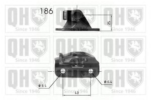 Газовая пружина, крышка багажник QUINTON HAZELL QTS840210