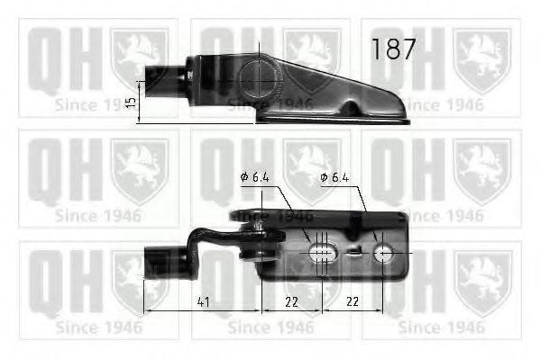 Газовая пружина, крышка багажник QUINTON HAZELL QTS840218