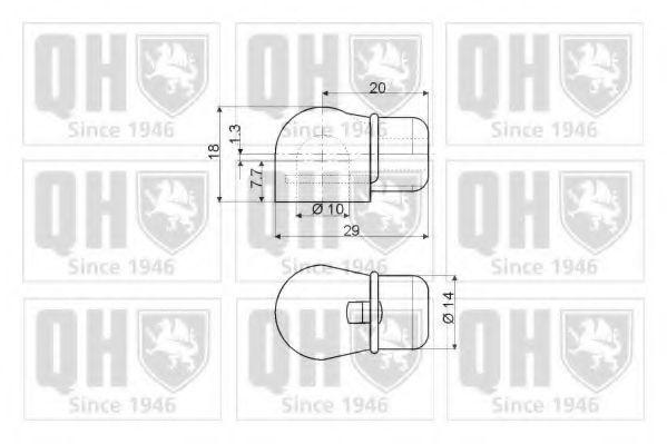 Газовая пружина, крышка багажник QUINTON HAZELL QTS128156
