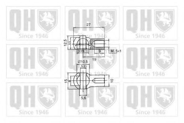Газовая пружина, крышка багажник QUINTON HAZELL QTS128424