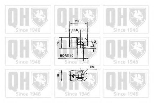 Газовая пружина, крышка багажник QUINTON HAZELL QTS128542