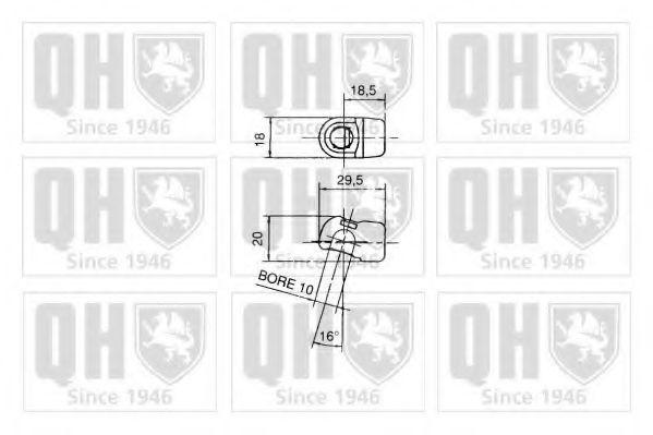 Газовая пружина, крышка багажник QUINTON HAZELL QTS128298