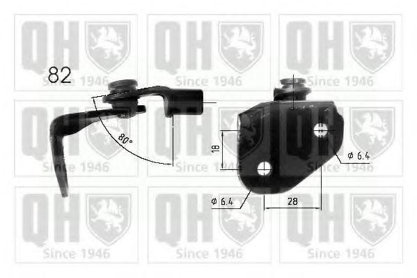 Газовая пружина, крышка багажник QUINTON HAZELL QTS840213