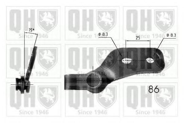 Газовая пружина, крышка багажник QUINTON HAZELL QTS840217