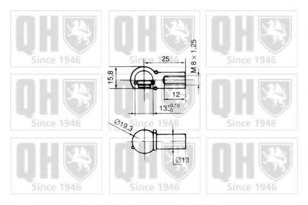 Газовая пружина, крышка багажник QUINTON HAZELL QTS128299