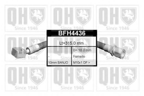 Тормозной шланг QUINTON HAZELL BFH4436