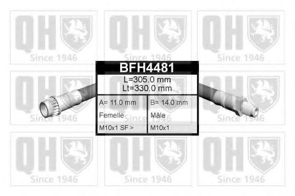 Тормозной шланг QUINTON HAZELL BFH4481