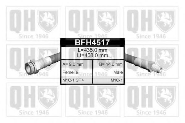 Шланг тормозной QUINTON HAZELL BFH4517