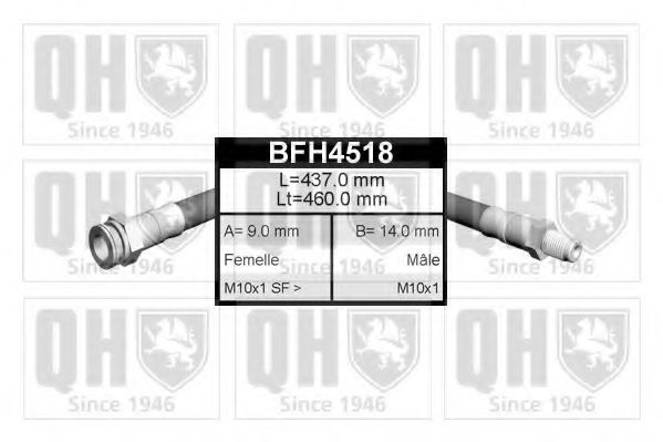 Тормозной шланг QUINTON HAZELL BFH4518
