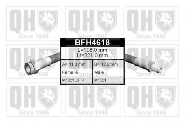 Тормозной шланг QUINTON HAZELL BFH4618