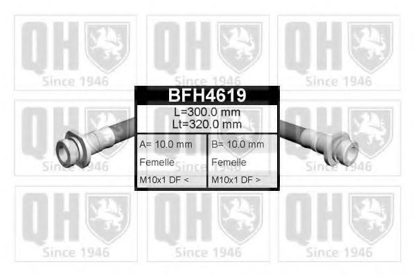 Тормозной шланг QUINTON HAZELL BFH4619