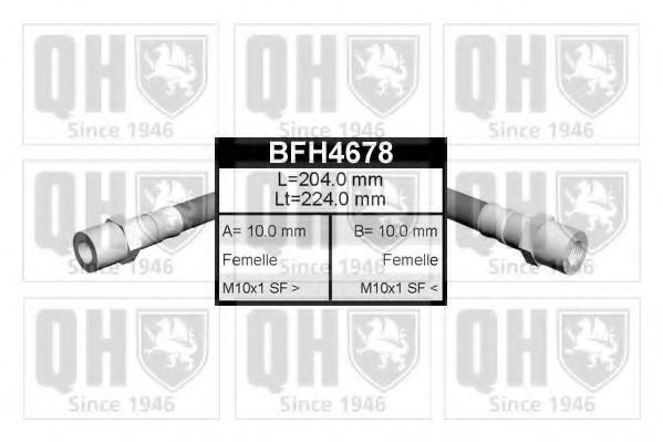 Шланг тормозной QUINTON HAZELL BFH4678