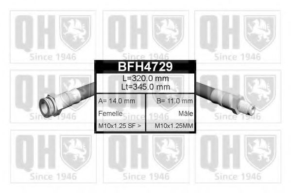 Тормозной шланг QUINTON HAZELL BFH4729