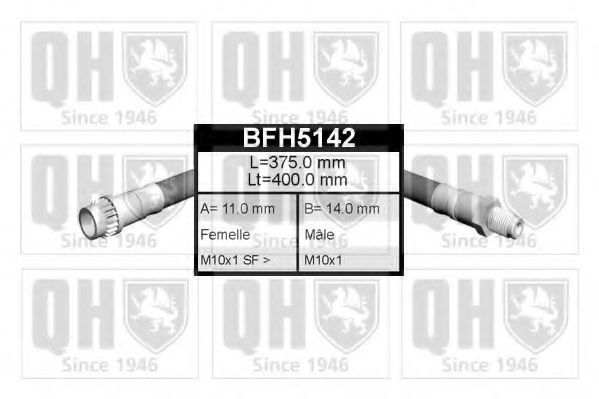 Тормозной шланг QUINTON HAZELL BFH5142