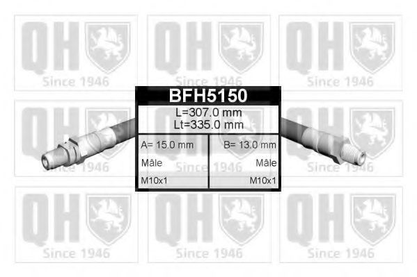 Тормозной шланг QUINTON HAZELL BFH5150