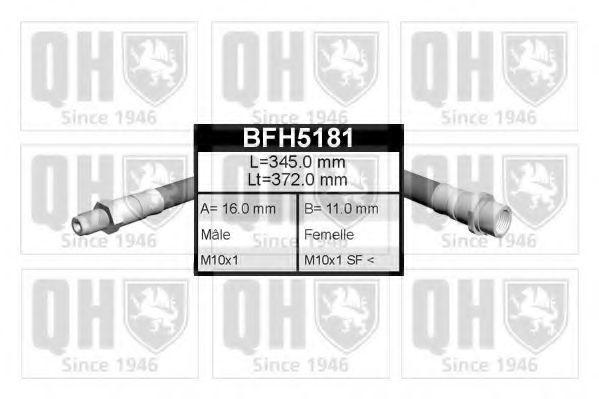 Шланг тормозной QUINTON HAZELL BFH5181