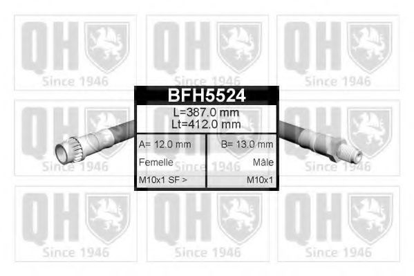 Шланг тормозной QUINTON HAZELL BFH5524