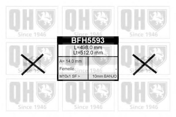 Тормозной шланг QUINTON HAZELL BFH5593