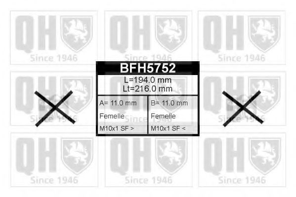 Шланг тормозной QUINTON HAZELL BFH 5752
