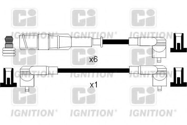 Комплект проводов зажигания QUINTON HAZELL XC838