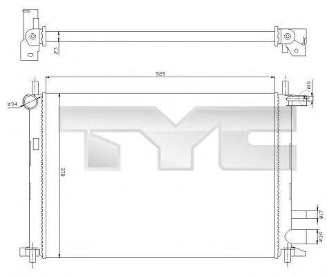 Радиатор охлаждения TYC 710-0054