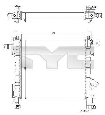 Радиатор охлаждения TYC 7100055R