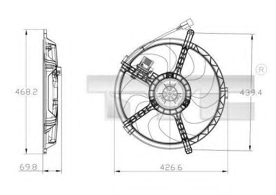Вентилятор охлаждения двигателя TYC 8030010