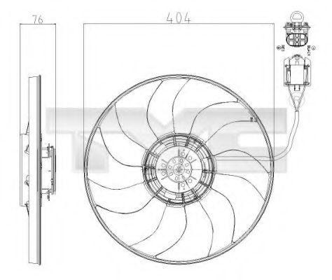 Вентилятор охлаждения двигателя TYC 8250020