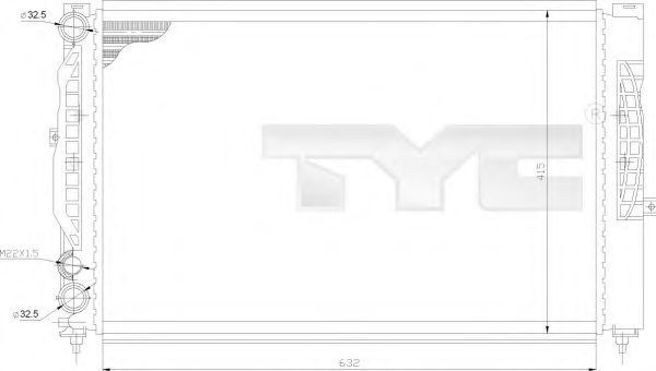 Радиатор охлаждения TYC 7020011