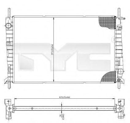 Радиатор охлаждения TYC 710-0045