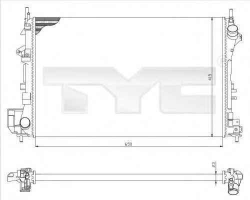 Радиатор охлаждения TYC 7250009