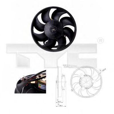 Вентилятор охлаждения двигателя TYC 8020010