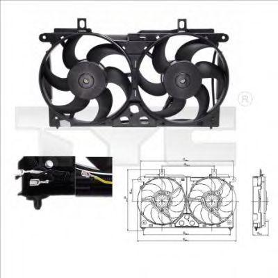 Вентилятор охлаждения двигателя TYC 8050002