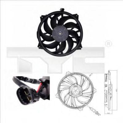 Вентилятор охлаждения двигателя TYC 8050006