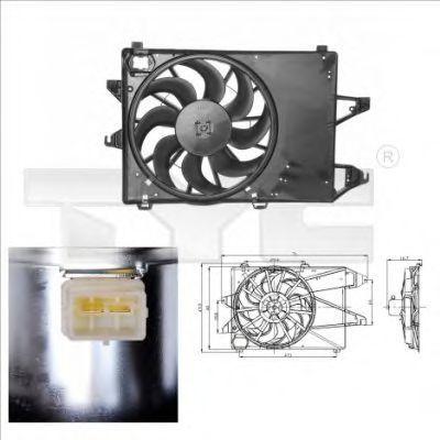 Вентилятор, охлаждение двигателя TYC 8100001