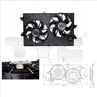 Вентилятор, охлаждение двигателя TYC 8100002