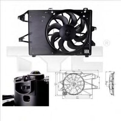 Вентилятор охлаждения двигателя TYC 810-0006
