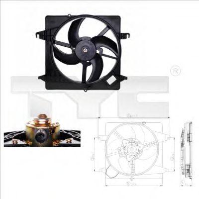 Вентилятор охлаждения двигателя TYC 8100013