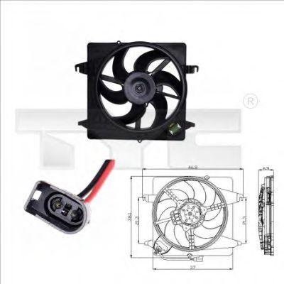 Вентилятор охлаждения двигателя TYC 810-0014
