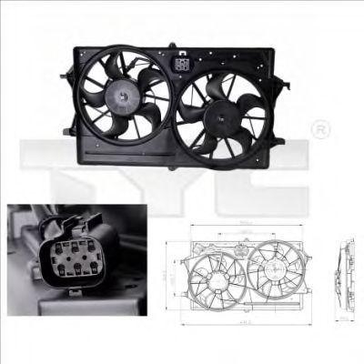 Вентилятор охлаждения двигателя TYC 8100016