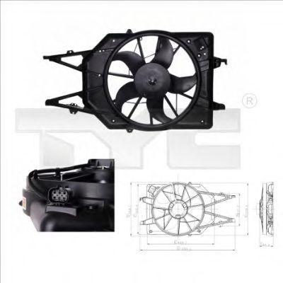 Вентилятор охлаждения двигателя TYC 8100017
