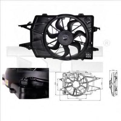 Вентилятор охлаждения двигателя TYC 8100018